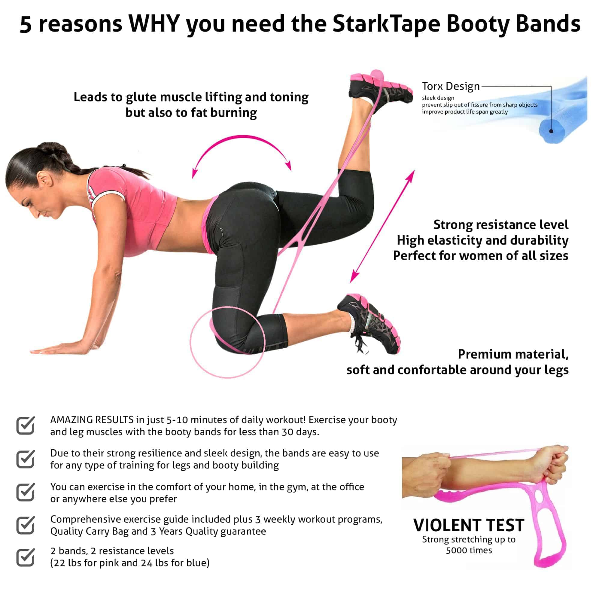 Exercise Bands Hips: THE PERFECT SHAPE FOR YOUR LEGS AND BUTT